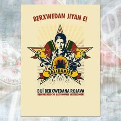 Postcard Berxwedan jiyan e!