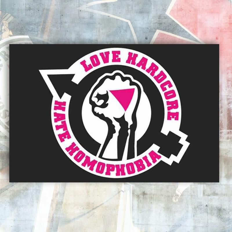 Love Hardcore Flag